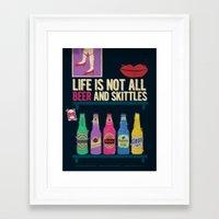 beer Framed Art Prints featuring Beer by duckgooooooo