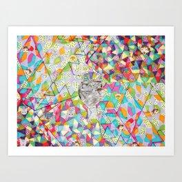 Pattern x Dog  Art Print