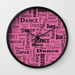 Just Dance - Pink Wall Clock
