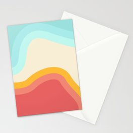 Retro Rainbow Swirls Stationery Cards