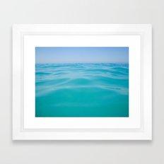 NEVER ENDING OCEAN Framed Art Print
