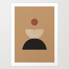 Nascita del sole - The birth of the sun - Modern abstract art Art Print