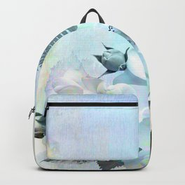 baby blue floral pattern Backpack