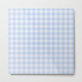 Gingham Pattern - Blue Metal Print