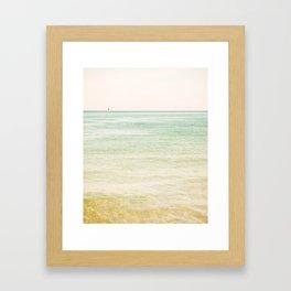 Nautical Red Sailboat Framed Art Print