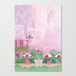 City Cafe Canvas Print