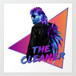 Kenny Omega polygonal Art Print