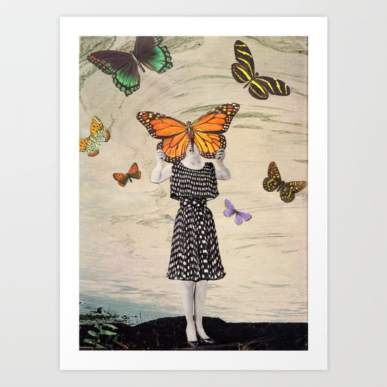 The butterflirst Art Print