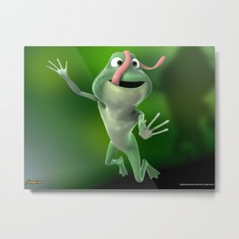 happy froggy Metal Print