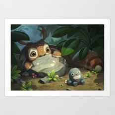 Timid Art Print