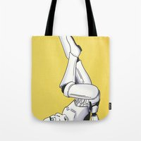 pinup Tote Bags featuring Trooper Pinup by DVOART