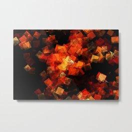 square fantasy embers Metal Print