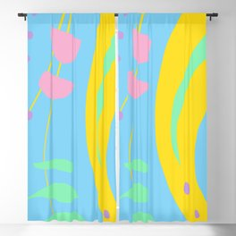 Colorful Abstract Shapes Blackout Curtain