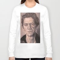 lou reed Long Sleeve T-shirts featuring Lou by Charles Ellison