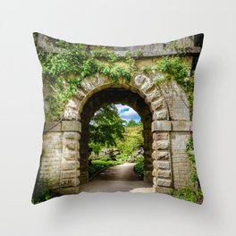 Archway, Chatsworth House. Throw Pillow