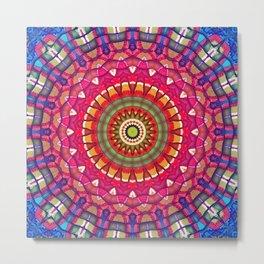 Rainbow Peace Mandala 02 Metal Print