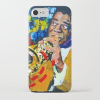 louis armstrong iPhone & iPod Cases featuring Louis Armstrong by Phil Fung