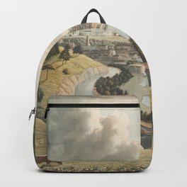 Vintage Pictorial Map of Richmond VA (1834) Backpack