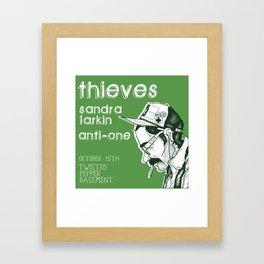 Gig Poster 2 - October 15th THIEVES // SANDRA LARKIN // ANTI-ONE Framed Art Print