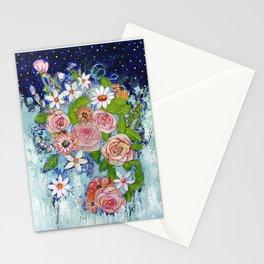 Celestial Sky Flower Garden Stationery Cards