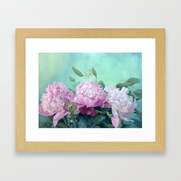 Pink Peonies The Three Sisters Floral Framed Art Print