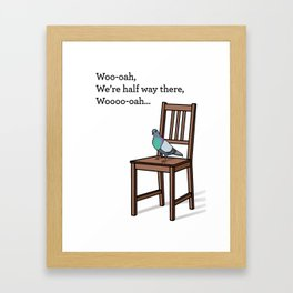 Pigeon on a Chair Framed Art Print