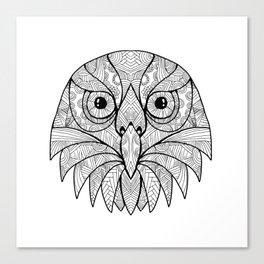 Australian Barking Owl Mandala Canvas Print