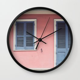French Quarter Color, No. 3 Wall Clock