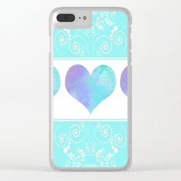 Design of Hearts Clear iPhone Case