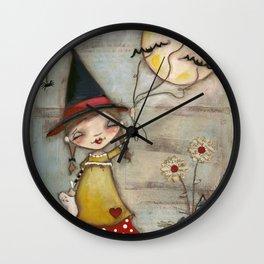 Walking The Bats - Halloween Art Wall Clock