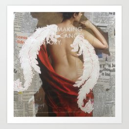 Making Cancer History , Angel Wings Print from collage Art Print