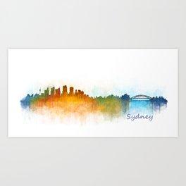 Sydney City Skyline Hq v3 Art Print