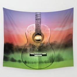 classic Spanish guitar  Wall Tapestry
