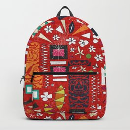 tiki red Backpack