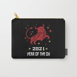 Chinese Zodiac New Year of The Ox 2021 Carry-All Pouch