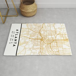 ATLANTA GEORGIA CITY STREET MAP ART Rug