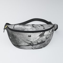 Black and white blots Fanny Pack