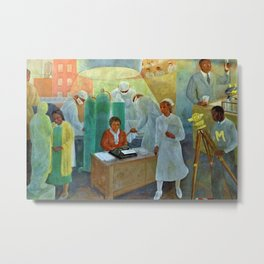 African American Masterpiece WPA Mural Harlem Hospital Education & Medicine - Pursuit of Happiness Metal Print