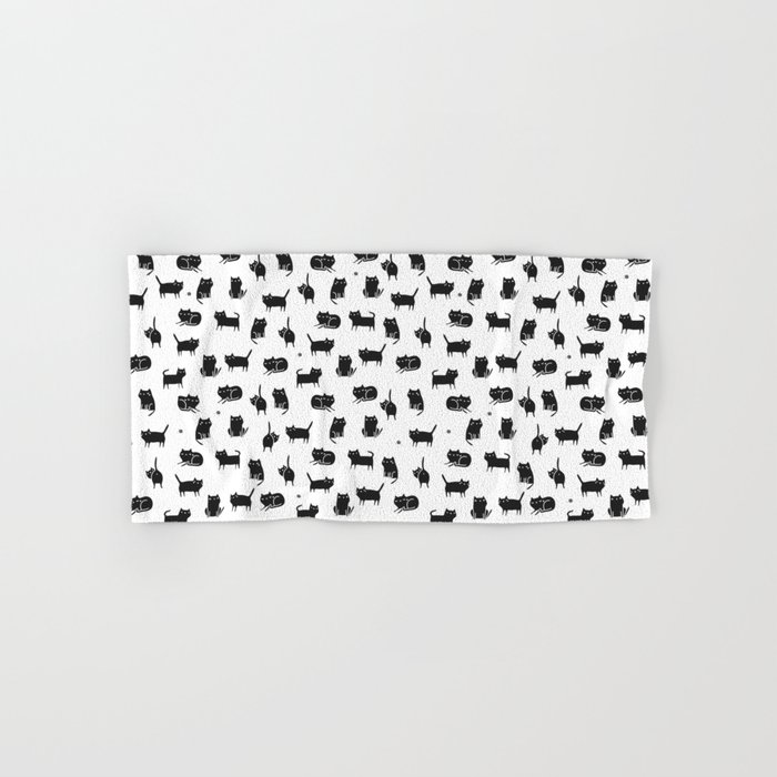Black cats Hand & Bath Towel