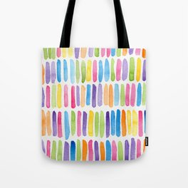 Colorful Dashes Tote Bag