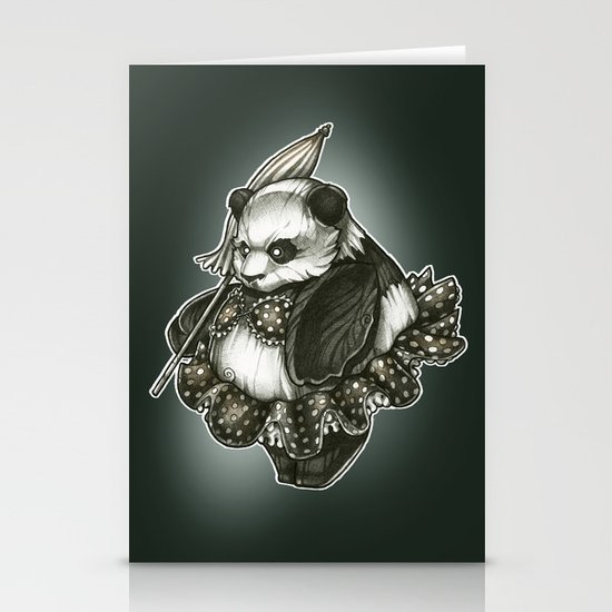 Panda's Day Off Stationery Cards