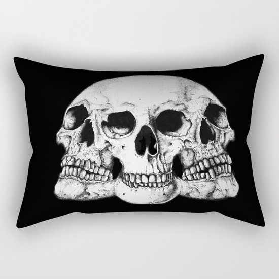 Threesome Skull - Black version Rectangular Pillow