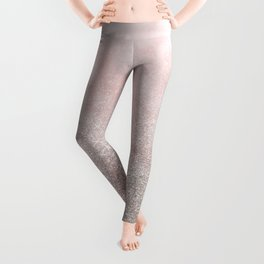 Beige glitter gradient on cotton candy clouds Leggings