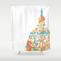 atlanta Shower Curtains featuring Atlanta, GA by ahutchabove