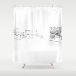 Granada-Madrid Shower Curtain