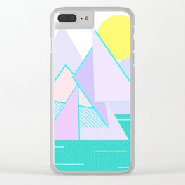 Hello Mountains - Lavender Hills Clear iPhone Case