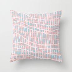 Net Blush Blue Throw Pillow