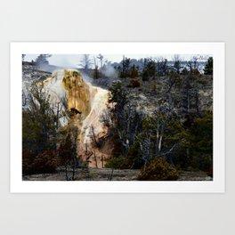 Mammoth Hot Springs-Yellowstone Art Print
