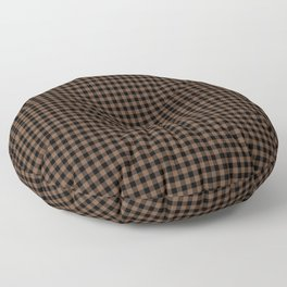 Mini Black and Brown Coffee Cowboy Buffalo Check Floor Pillow