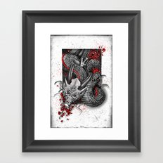 Black dragon Framed Art Print